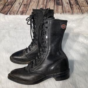 Womens Harley Davidson Riding Combat Moto Boots